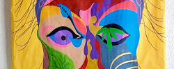 AngelaAGUIAR Tapeçaria Crazy About Face 160cm X 93 98cm.fw